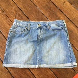 NWOT Old Navy Aline Light Wash 5 Pocket Jean skirt